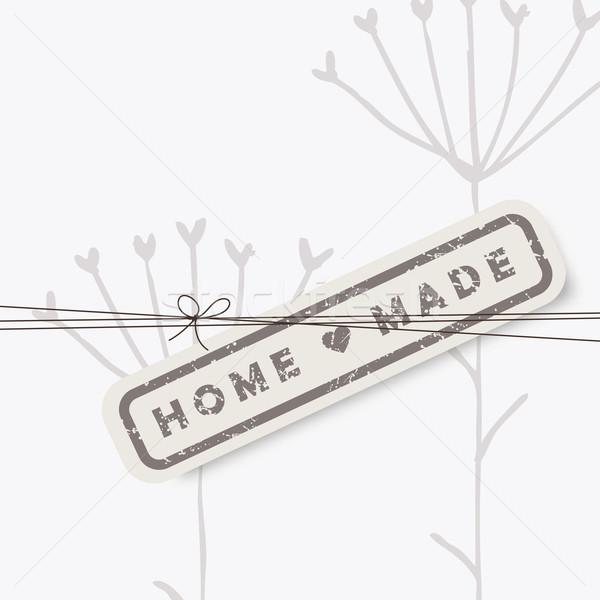 Homemade design elements -stamp, label, sticker Stock photo © LeonART