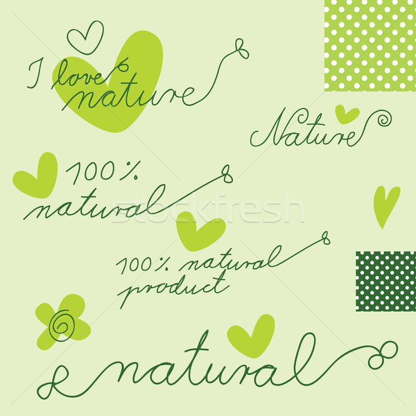 Natural - Design elements Stock photo © LeonART