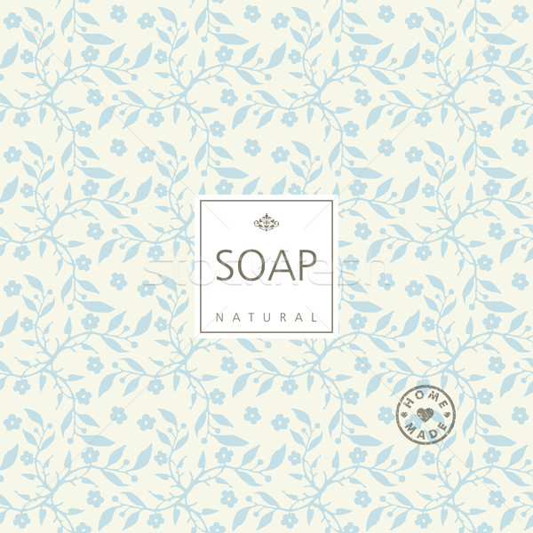 Vector background for natural handmade soap, decorative