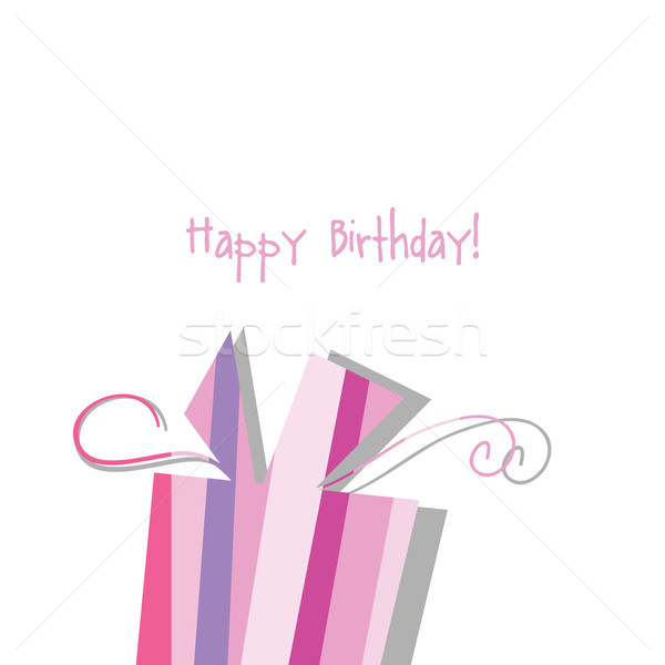 Birthday card with copy space Nice greeting card for birthday invitation, baby shower, scrapbook pro Stock photo © LeonART
