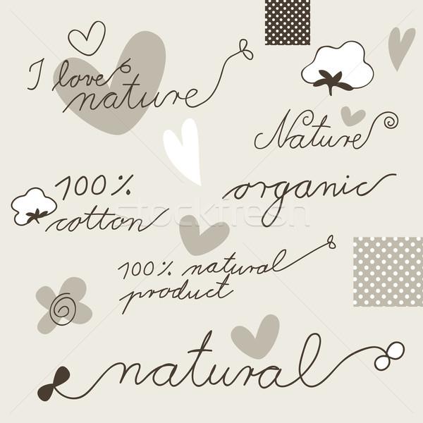 Cotton - design elements Stock photo © LeonART