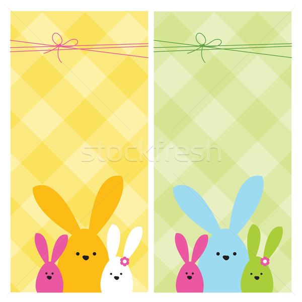 Stock fotó: Húsvét · háló · bannerek · színes · tavasz · boldog