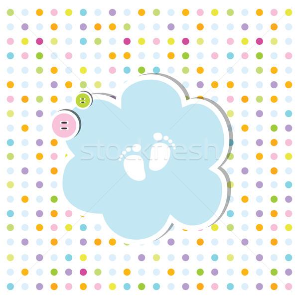 Sevimli bebek duş varış kart Stok fotoğraf © LeonART