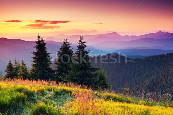 山 景觀 早晨 雲 商業照片 © Leonidtit