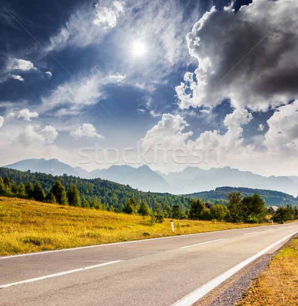 Hegy csodálatos kilátás hegyek park Montenegró Stock fotó © Leonidtit