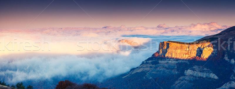 горные утра пейзаж Украина Европа Сток-фото © Leonidtit