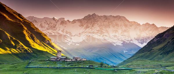 Quatre faible pied Géorgie Europe caucase Photo stock © Leonidtit