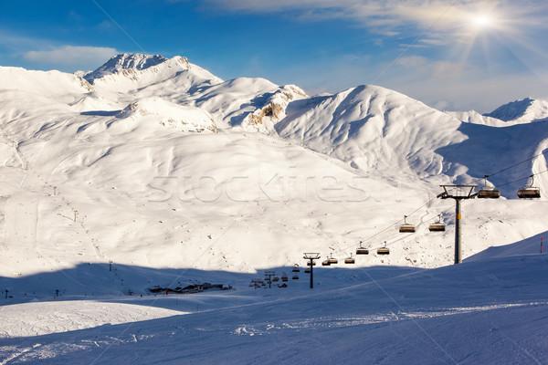 горные пейзаж фантастический зима Blue Sky Австрия Сток-фото © Leonidtit