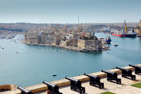 Malta vista puerto cielo agua casa Foto stock © Leonidtit