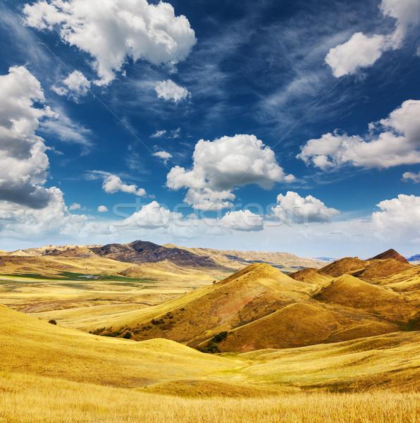 çöl atık zemin Georgia Azerbeycan bölge Stok fotoğraf © Leonidtit