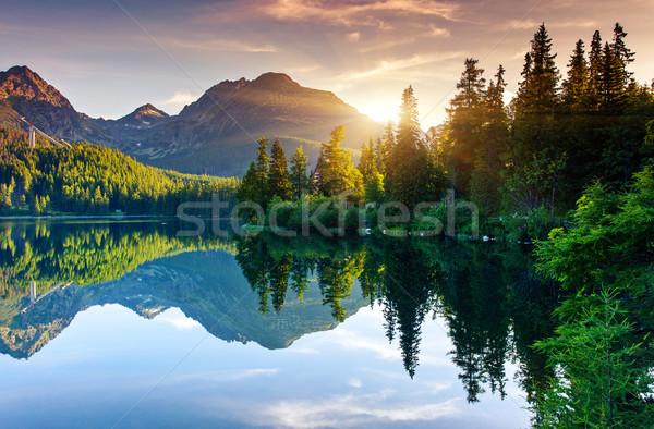 Foto stock: Lago · montanha · parque · alto · Eslováquia · europa