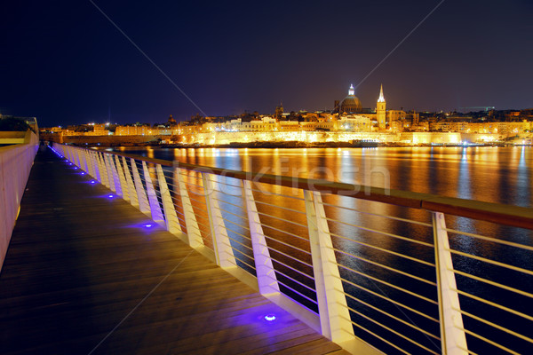 Malta nacht dame stad landschap Stockfoto © Leonidtit