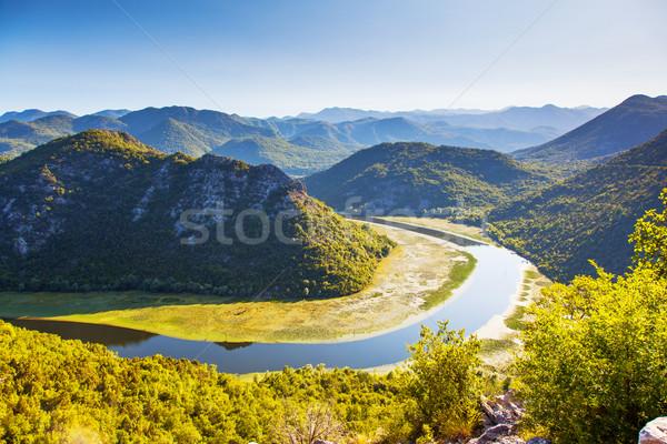 河 山 湖 黑山 歐洲 商業照片 © Leonidtit