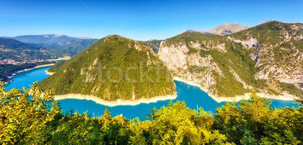 Сток-фото: реке · Черногория · известный · каньон · фантастический · водохранилище
