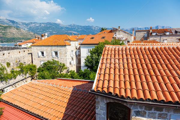 Város kilátás óváros Montenegró Európa szépség Stock fotó © Leonidtit