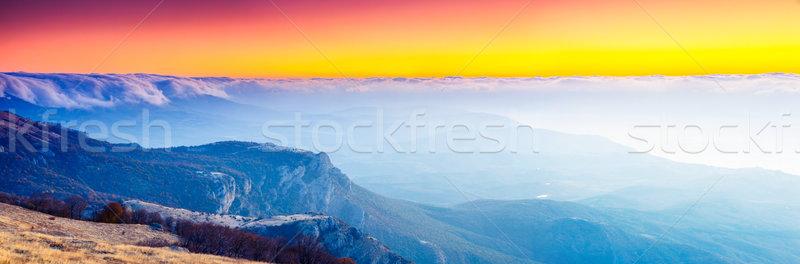 Dağ sabah manzara Ukrayna Avrupa Stok fotoğraf © Leonidtit