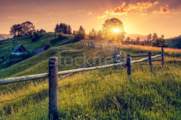 Montanha fantástico manhã paisagem colorido Foto stock © Leonidtit