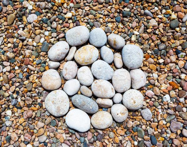 Pietra view raffinato multicolore pietre Foto d'archivio © Leonidtit