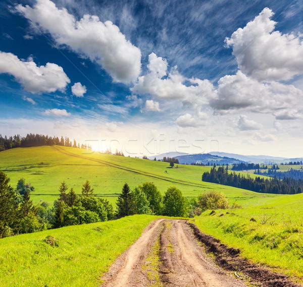 Montanha fantástico paisagem Ucrânia europa Foto stock © Leonidtit