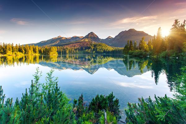 Lago montanha parque alto Eslováquia europa Foto stock © Leonidtit