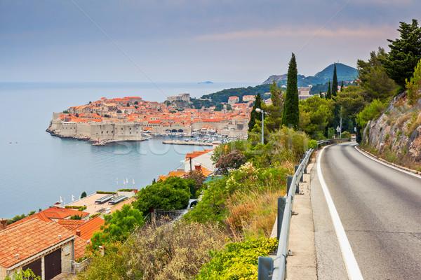 Horvátország kilátás óváros Dubrovnik tenger Európa Stock fotó © Leonidtit