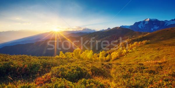 Mooie najaar landschap fantastisch alpine Stockfoto © Leonidtit