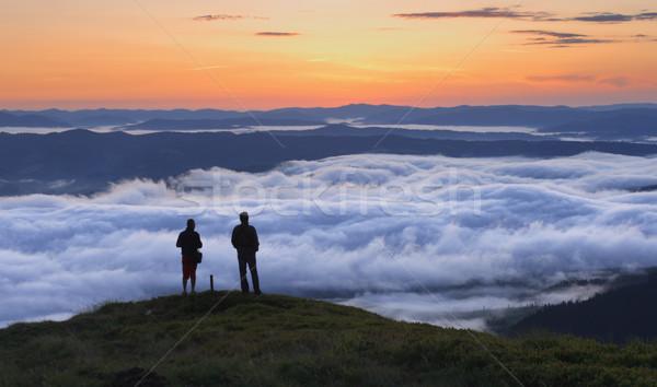 misty morning Stock photo © Leonidtit