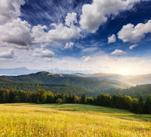 Paysage fantastique montagne Ukraine Europe Photo stock © Leonidtit