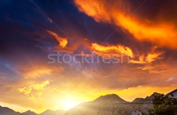 égbolt gyönyörű természet háttér naplemente szépség Stock fotó © Leonidtit
