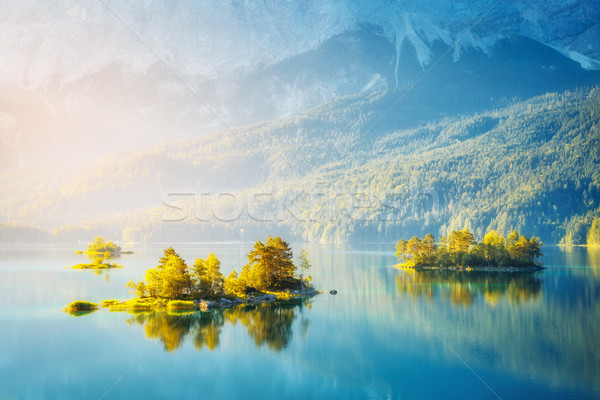 beautiful alpine lake Stock photo © Leonidtit