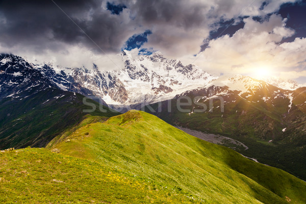高い 山 高山 劇的な 空 ストックフォト © Leonidtit