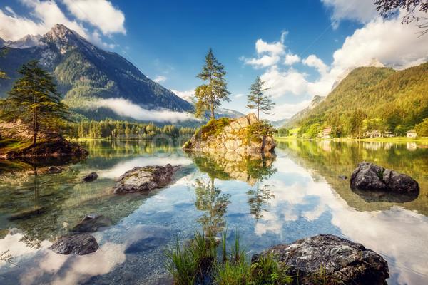 beautiful alpine lake Stock photo © Leonidtit