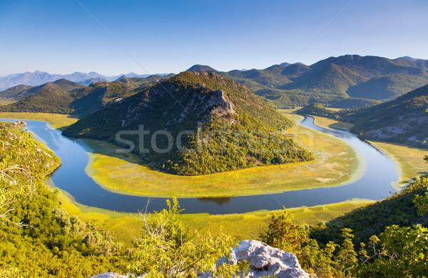 Nehir dağlar göl Karadağ Avrupa Stok fotoğraf © Leonidtit