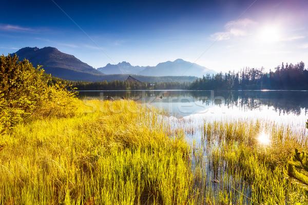 Tó hegyek fantasztikus hegy park magas Stock fotó © Leonidtit