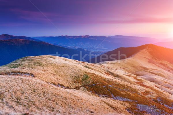 wonderful sunset in mountain Stock photo © Leonidtit