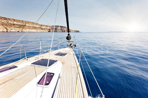 Jacht mozog sport természet tájkép tenger Stock fotó © Leonidtit