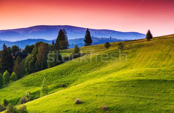 закат гор пейзаж драматический небе Сток-фото © Leonidtit