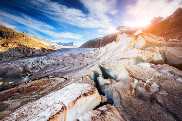 Fantastik buzul alpine vadi Stok fotoğraf © Leonidtit