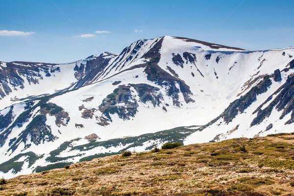 Hegyek tájkép gyönyörű napos idő hegy hó Stock fotó © Leonidtit