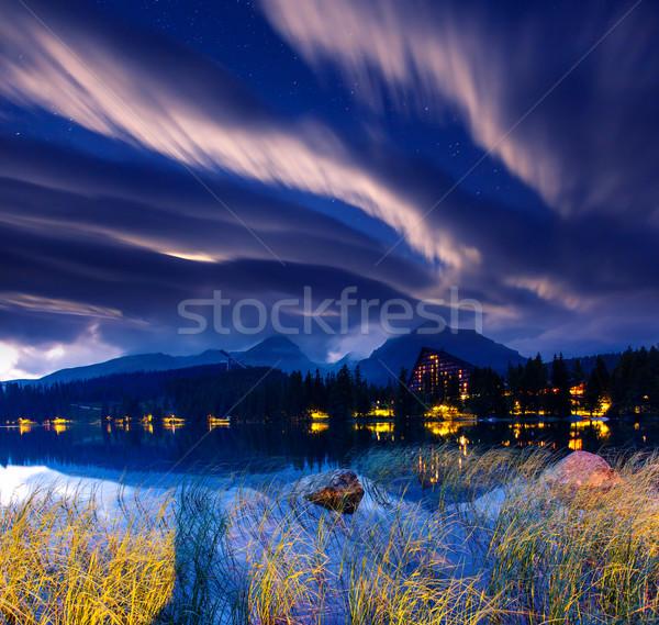 Lago leitoso maneira parque alto dramático Foto stock © Leonidtit