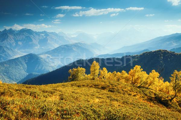 Gyönyörű ősz tájkép fantasztikus kilátás alpesi Stock fotó © Leonidtit