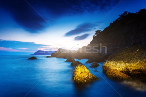 Deniz güzel deniz manzarası taşlar Ukrayna Avrupa Stok fotoğraf © Leonidtit