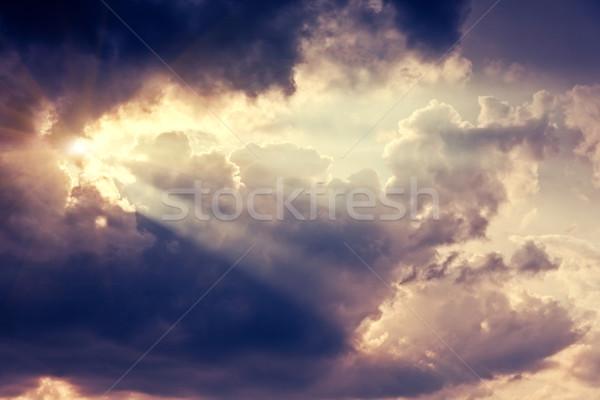 Ciel belle nature fantastique coloré coucher du soleil Photo stock © Leonidtit