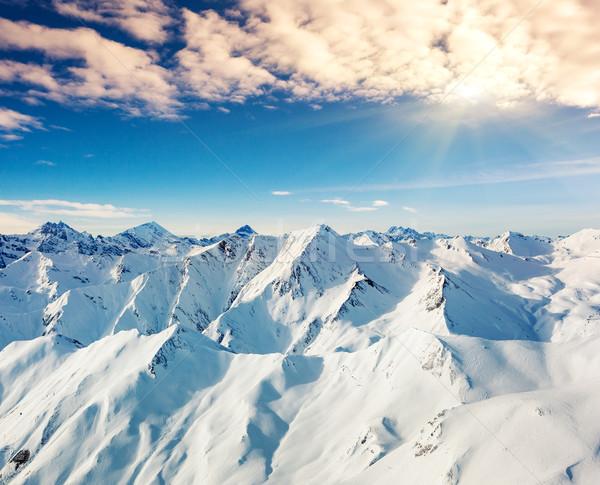 зима фантастический пейзаж Blue Sky Австрия Европа Сток-фото © Leonidtit