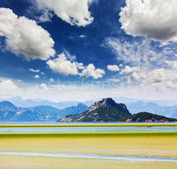 Сток-фото: озеро · фантастический · мнение · гор · парка · Черногория