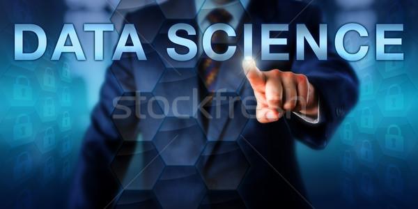 Manager toccare dati scienza maschio business Foto d'archivio © leowolfert