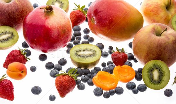 Gemengd vruchten geïsoleerd witte variëteit Stockfoto © leowolfert