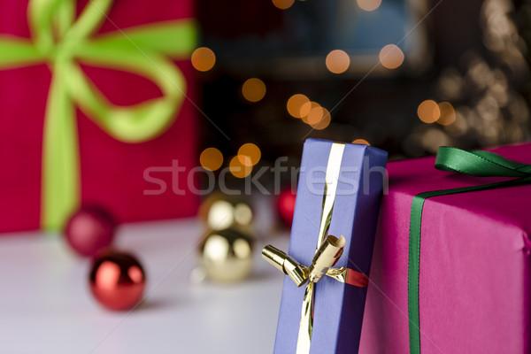 Gifts and glitter balls Stock photo © leowolfert