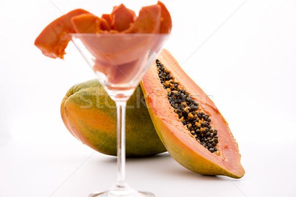 Globose body and tangerine pulp - Papaya Stock photo © leowolfert