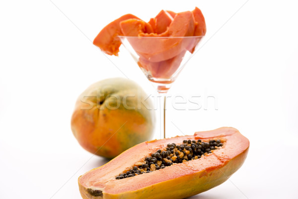 Red papaya for breakfast